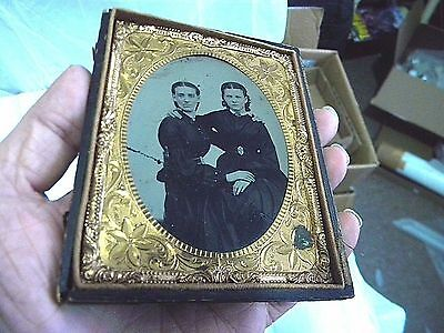 1/4 Plate Ambrotype - Unusual Mom & Daughter