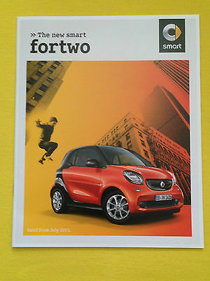 Smart ForTwo For Two Prime Passion marketing paper brochure July 2015 print MINT