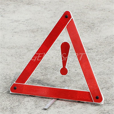 Emergency Breadown Triangle Reflective Red Sign Foldable Hazard For Cars Van New