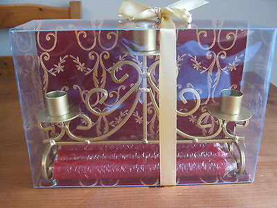 Lovely Candlestick Holder For 3 Candles.....brand New....