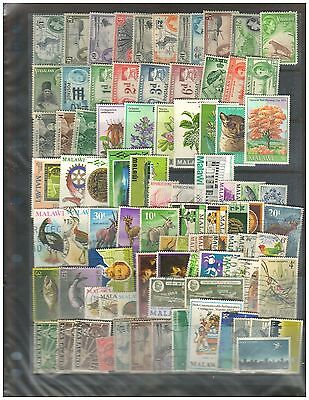 490 NYASALAND & MALAWI Collection 87 Dif. Stamps ---- 41 MNH -------46 Used.