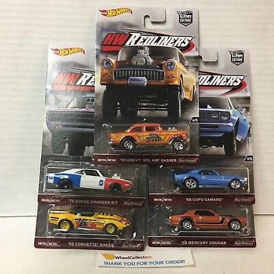 5 Car Set * REDLINERS Car Culture Case G * 2016 Hot Wheels * In Stock