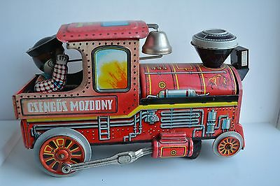 Vintage Retro Nostalgic Tin Plate toy train engine