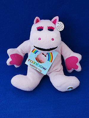 TALKING George from the Rainbow TV Show Soft Toy Cuddly Teddy Pink Hippo