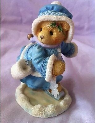 Christmas BN MINT Cherished Teddies Candace #269778 sparkly snow SKATING Gift