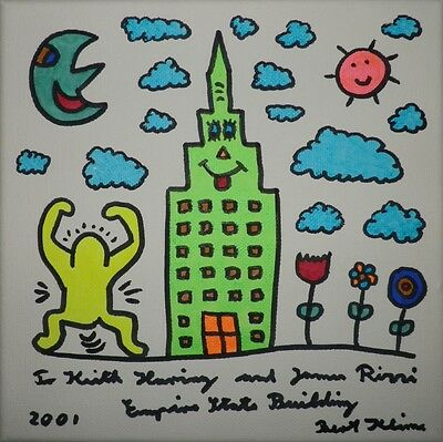 Bert Klime, To Keith Haring And James Rizzi - Empire State Building, 2001,unikat