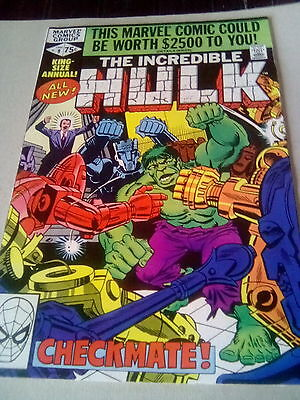 The Incredible Hulk   King Sized Annual No.9 , 1980 , Marvel . **u.k..auction