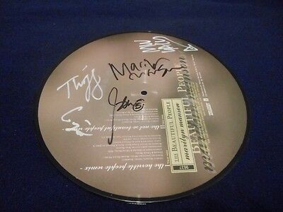 """Rare Signed Marilyn Manson 10"""" Picture Disc - The Beautiful People - Mint"""