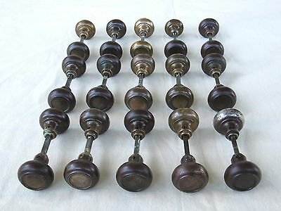 15 Pairs of Refurbished Antique Door Knobs All Cleaned with an Oil Rubbed Finish