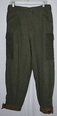 Vintage WWII Swedish Wool C48 Army Pants Trousers Size 30x30 Hunting Cargo