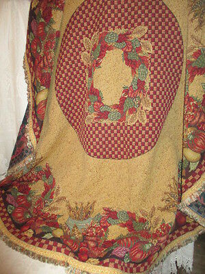 Vintage French Heavy Brocade Tapestry Table cover or Throw.