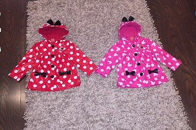 Girls Minnie Mouse Raincoats Both 2-3 Years
