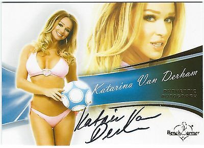 Bench Warmers Katarina Van Derham Authentic Autograph Card 2013 Good Condition