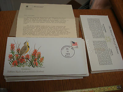 Set of 50 Fleetwood THE BIRDS AND FLOWERS OF THE 50 STATES OF AMERICA USA S3