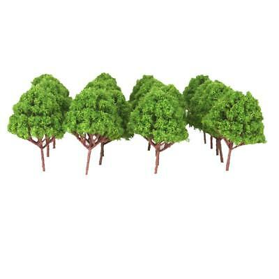 10 Light Green Model Multi Branched Tree Train Railway Park Scenery HO Scale