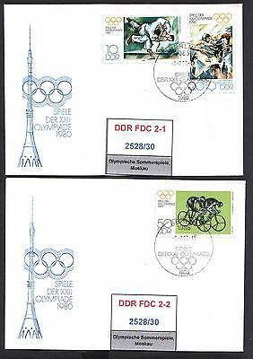 DDR, FDC 2528/30, 2532/33 gestempelt, s.scan