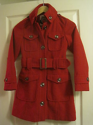 NEXT GIRLS RED COAT Age 9-10 Years 140cm in excellent condition