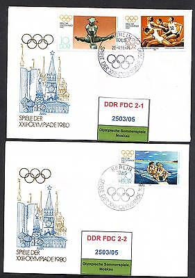 DDR, FDC 2503/04, 2506 gestempelt, s.scan