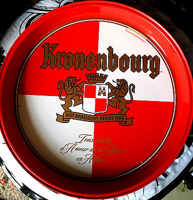 Kronenbourg  Large Brightly Coloured  Round Drinks  Tray...  Vgc.
