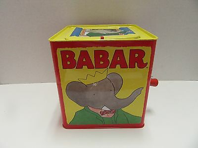 Schylling Babar Pop Goes The Weasel Wind Up Music Box
