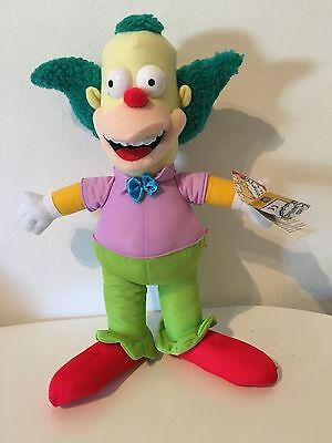 """15"""" The Simpsons Krusty The Clown Plush Soft Toy"""