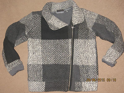 """NEXT"" Absolutely Stunning Girls Grey Woollen Biker Jacket - Age 10"