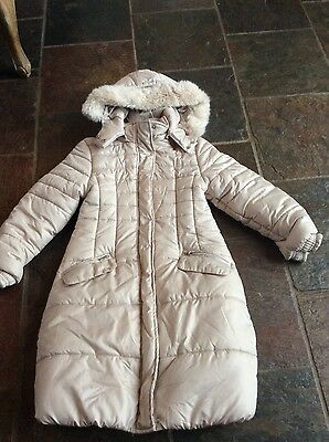 Mayoral Girls Cream Coat - Age 8 yrs