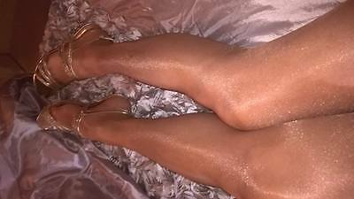 Womens Worn Used Glossy Tights