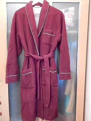 Mens Red Thermal  Fleece Robe Dressing Gown size M VGC  #627