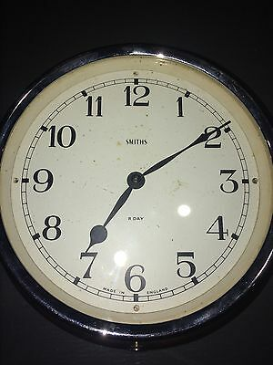 Vintage Smiths Bakerlite 8Day Movement Windup Clock Fully Working Nice Condition