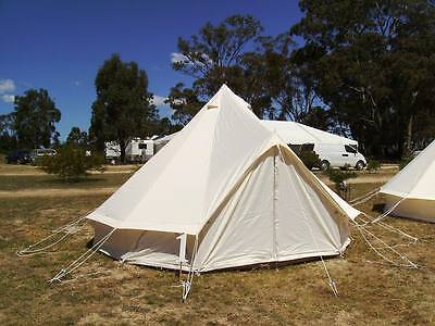 4m Luxury Oxford Canvas Glamping Bell Tent