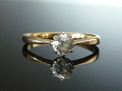 Stunning 9ct gold 0.50ct Old cut diamond solitaire ring NOV2