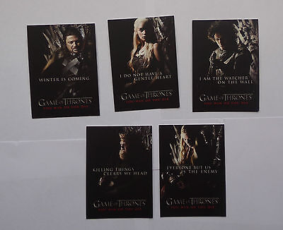 game of thrones season one 9 card You Win or You Die chase set