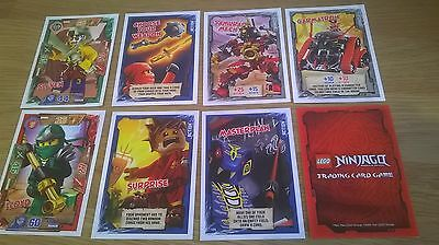 LEGO NINJAGO TRADING CARDS Limited Edition  lot x 8 (1 x double) NEW ninja 2016