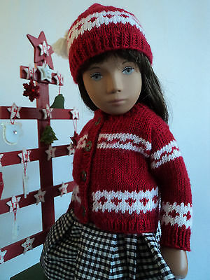 """Winter Knit Outfit for Sasha doll. """"Counting the Days"""" by """"The Spin I'm In."""""""