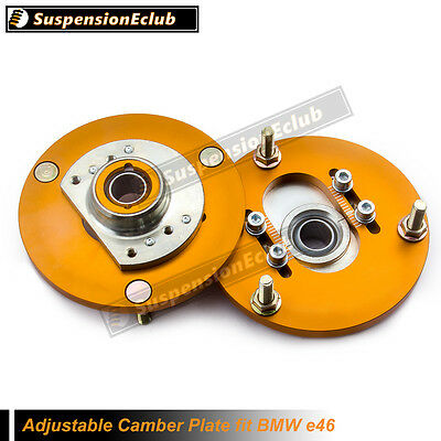 Adjustable Camber Plates fit BMW E46 3 Series Top Mount Suspension Plate SCB