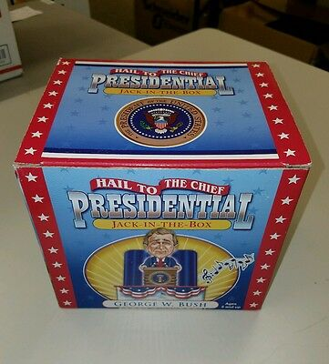George W. Bush Presidential Jack-In-The-Box in Mint Condition!