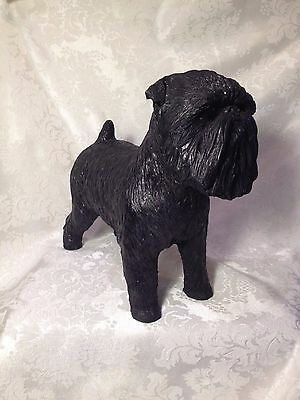 Large Dog Sculpture - Brussels Griffon by Patsi Ann