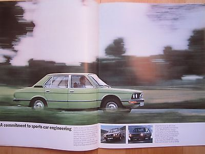 BMW 520 & 520i (first gen. 5 Series) Brochure 1973, 20 pages in Good Condition