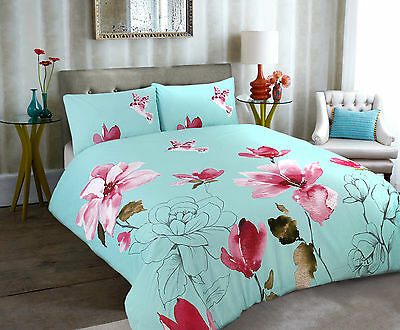 Duvet Quilt Cover with Pillow Case Bedding Set Size Double Design Stella Duckegg