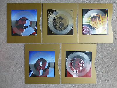 """U2 - Achtung Baby - 5 clear vinyl 7"""" Singles from the Uber box set"""