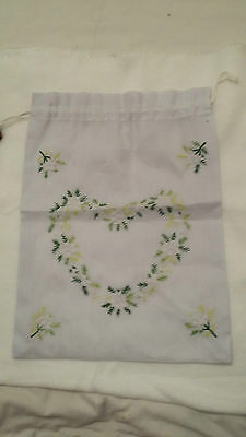 New Green Floral heart shaped Embroidered Pouch