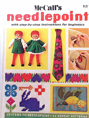 McCalls Needlepoint Step by Step Instructions Beginners Projects Patterns VTNS