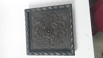 Bali hand carved wall plaque.