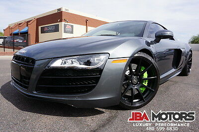 2010 Audi R8 10 V10 R8 TT 5.2L Coupe TWIN TURBO 2010 Gray Audi R8 V10 Coupe 1 Owner Clean CarFax like 2008 2009 2011 2012 2014