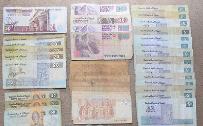 Egypt: 960 Punds in banknotes. 2 x 200, 4 x 100, 2 x 50, 2 x 20, 4 x 5. EGP.