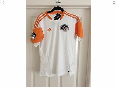 Rare Houston Dynamo Authentic Away Short Sleeved MLS Soccer Jersey