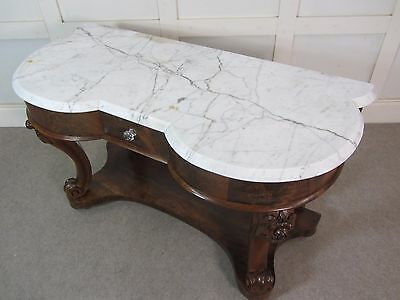 Antique Marble Victorian Mahogany Washstand Dressing Table Hall