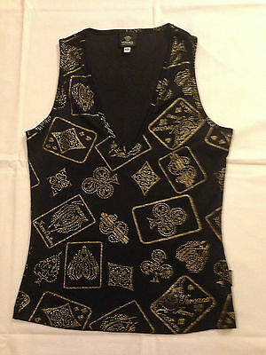 Versace Jeans Couture ladies top playing cards print tg. XS