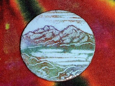 BC MOUNTAIN LANDSCAPE Enameled Copper Brooch Pin